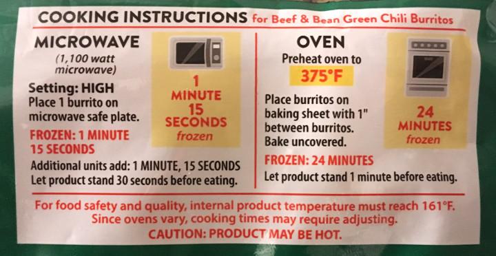 El Monterey Beef & Bean Green Chili Burritos