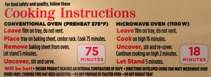 stouffer's family size macaroni  cheese review  freezer