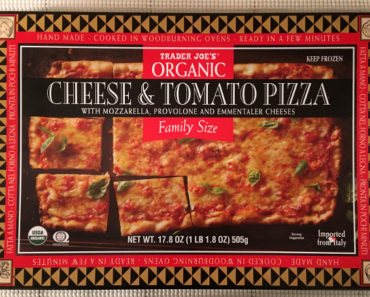 Trader Joe's Family Size Organic Cheese & Tomato Pizza