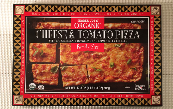 Trader Joe's Family Size Organic Cheese & Tomato Pizza