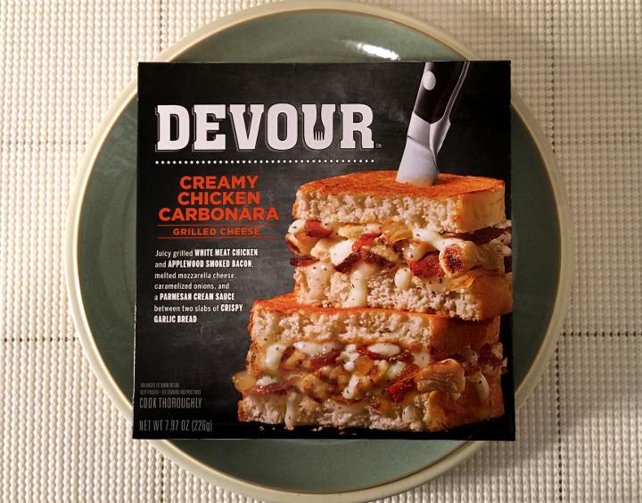 Devour Creamy Chicken Carbonara Grilled Cheese