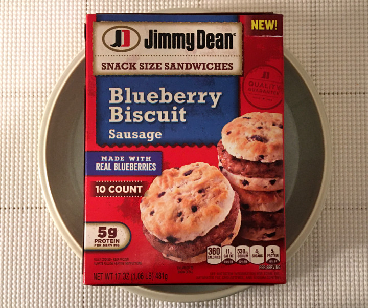 Jimmy Dean Sausage and Blueberry Biscuit Snack Size Sandwiches