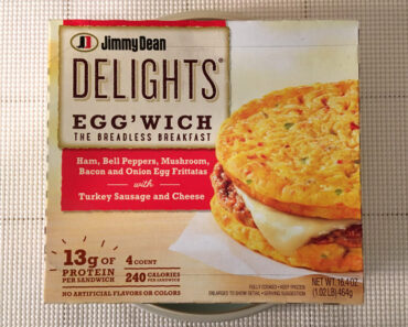 Jimmy Dean Delights: Ham, Bell Peppers, Bacon and Onion Egg Frittatas with Turkey Sausage and Cheese Egg'wich