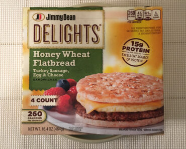 Jimmy Dean Delights: Turkey Sausage, Egg & Cheese Honey Wheat Flatbread Sandwiches Review