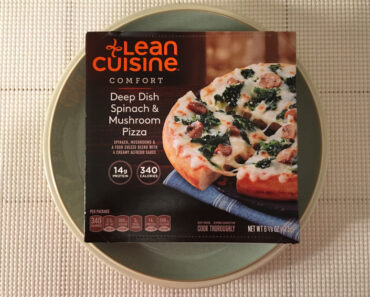 Lean Cuisine Deep Dish Spinach & Mushroom Pizza