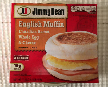 Jimmy Dean English Muffin, Canadian Bacon, Whole Egg & Cheese Breakfast Sandwiches Review