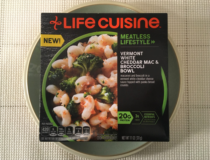 Life Cuisine Meatless Lifestyle Vermont White Cheddar Mac & Broccoli Bowl