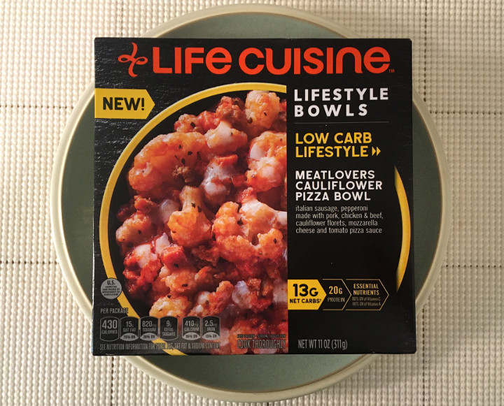 Life Cuisine Meatlovers Cauliflower Pizza