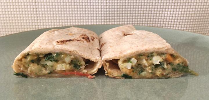 Good Food Made Simple Spinach Scramble Breakfast Burrito