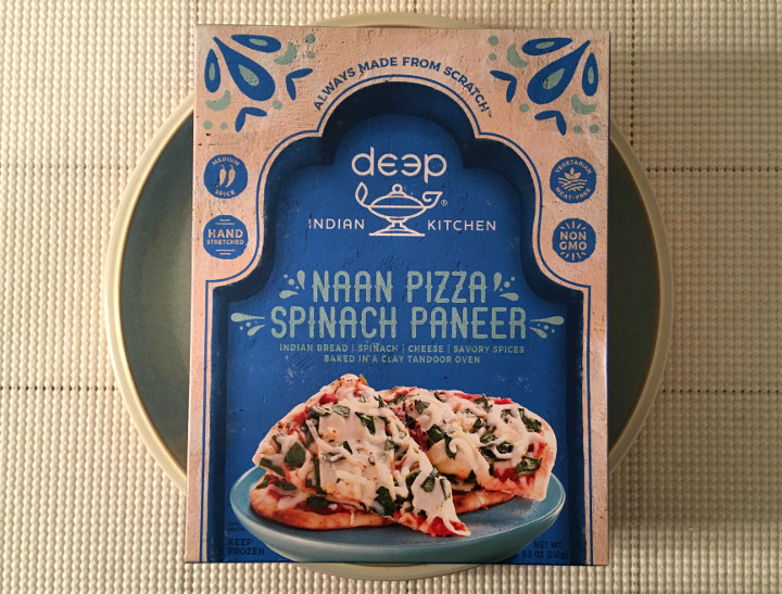 Deep Indian Kitchen Spinach Paneer Naan Pizza