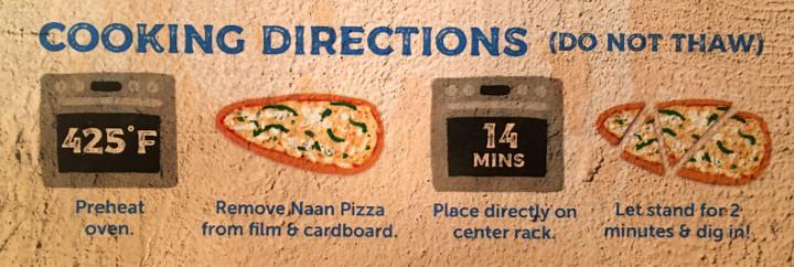 Deep Indian Kitchen Spinach Paneer Naan Pizza