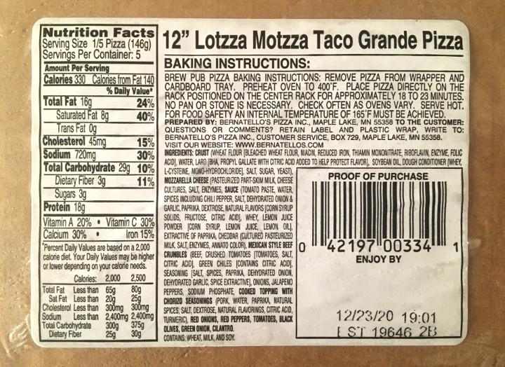 Lotzza Motzza Taco Grande Pizza