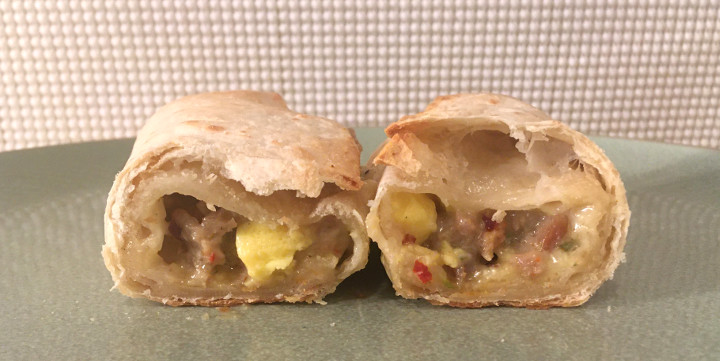 Red's Meat Lovers Egg, Sausage & Bacon Burrito