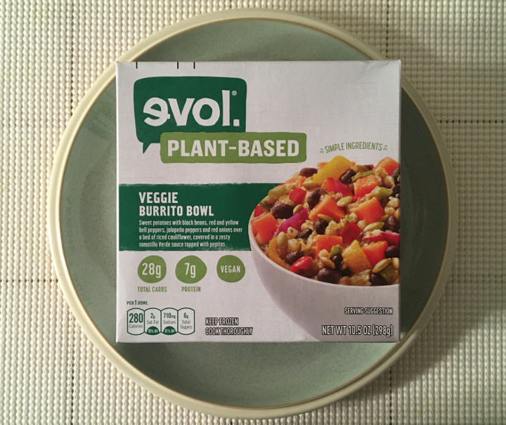 Evol Plant-Based Veggie Burrito Bowl