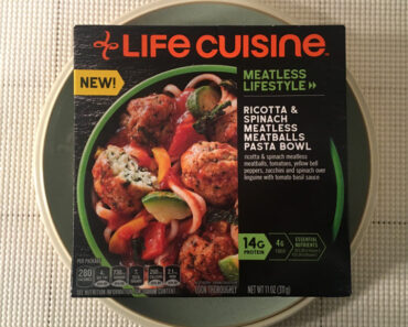 Life Cuisine Meatless Lifestyle Ricotta & Spinach Meatless Meatballs Pasta Bowl