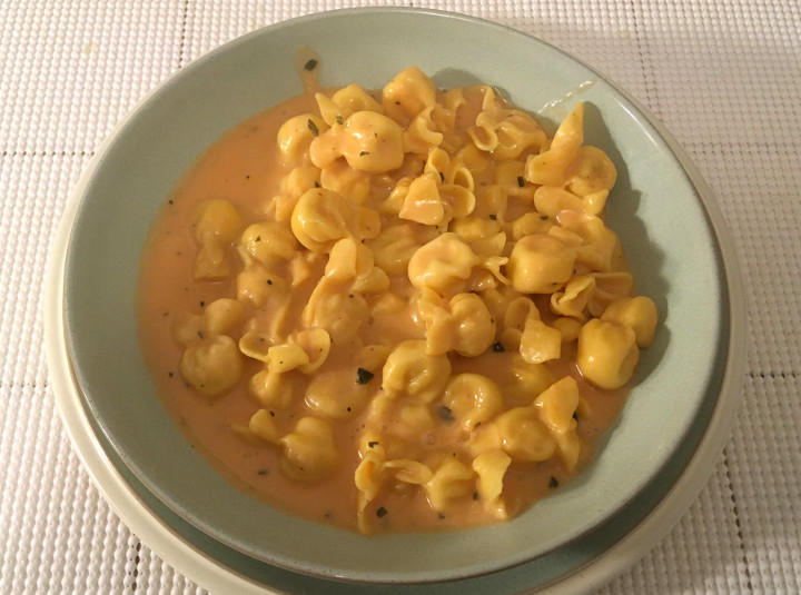 Trader Joe's Cheese-Filled Fiocchetti with Pink Sauce