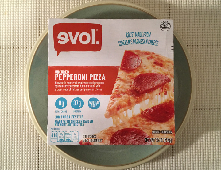 Evol Low Carb Lifestyle Uncured Pepperoni Pizza