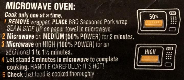 Healthy Choice BBQ Seasoned Pork Wrap