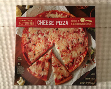 Trader Joe's Gluten Free Cheese Pizza with a Cauliflower Crust