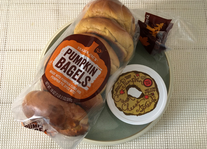 Trader Joe's Pumpkin Bagels and Pumpkin Cream Cheese Spread