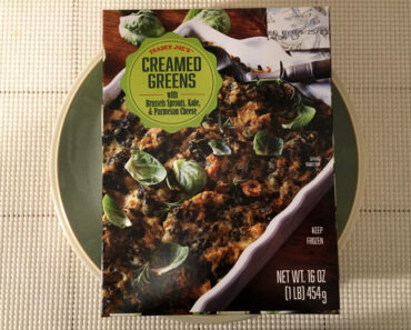 Trader Joe's Creamed Greens with Brussels Sprouts, Kale & Parmesan Cheese