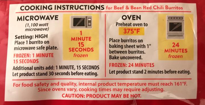El Monterey Beef & Been Red Chili Burritos