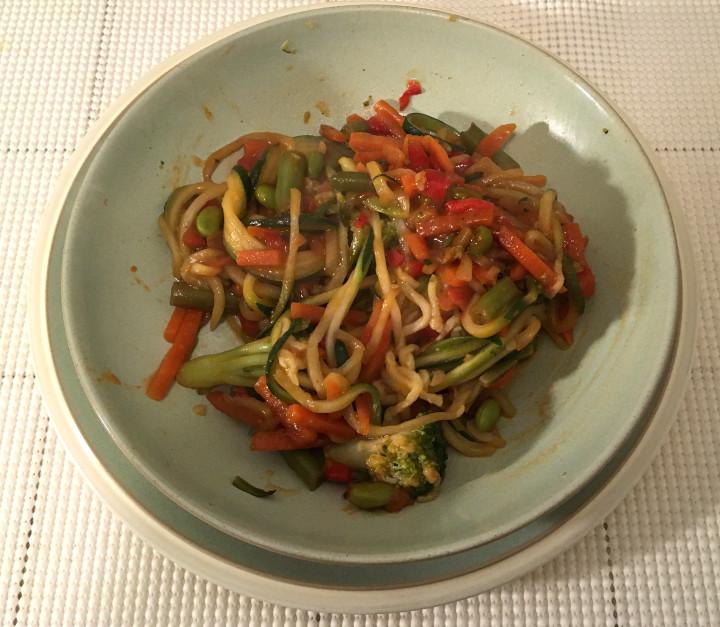 Trader Joe's Gochujang Vegetable Stir Fry with Zucchini Spirals