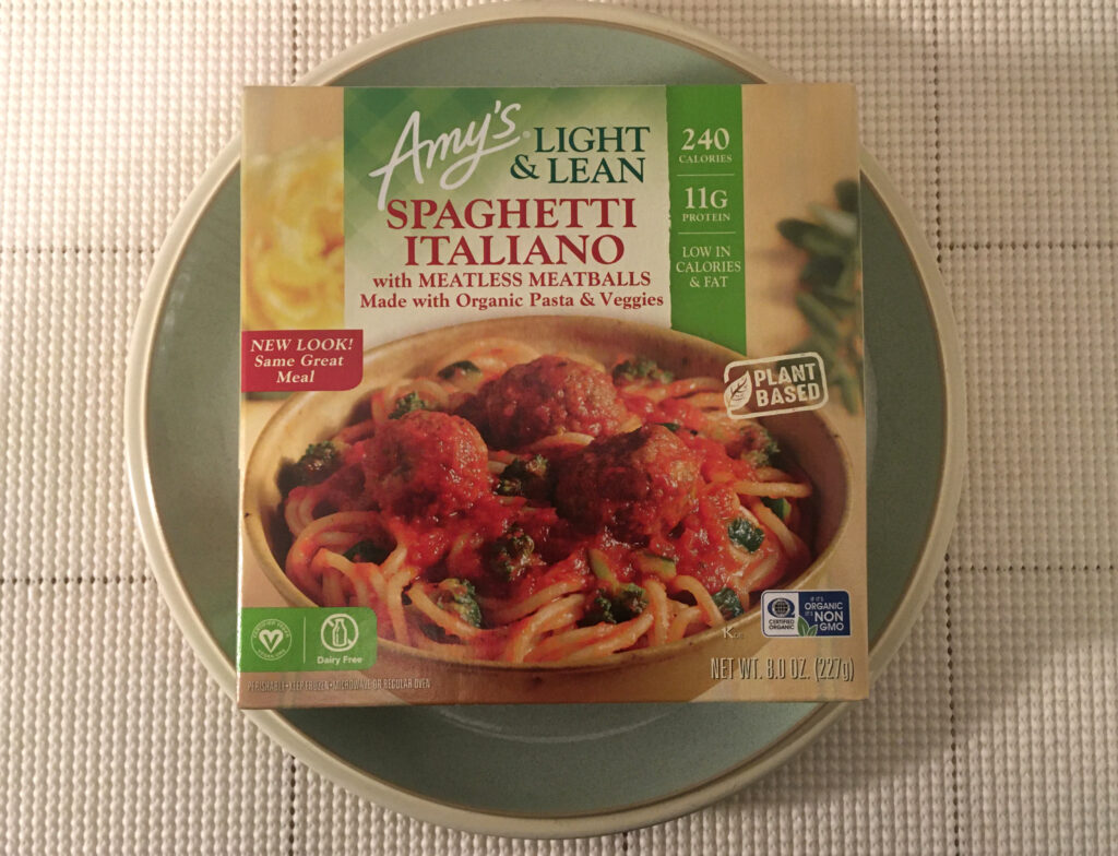Amy's Light & Lean Spaghetti Italiano with Meatless Meatballs