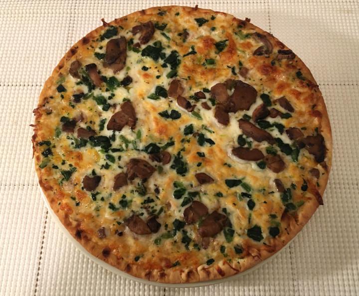 Bellatoria Roasted Mushroom 'n Spinach Ultra Thin Crust Pizza