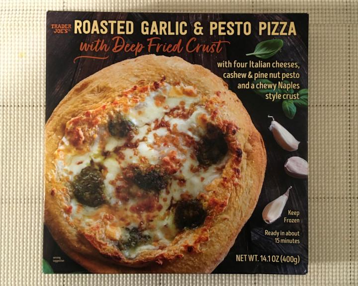 Trader Joe's Roasted Garlic & Pesto Pizza with Deep Fried Crust