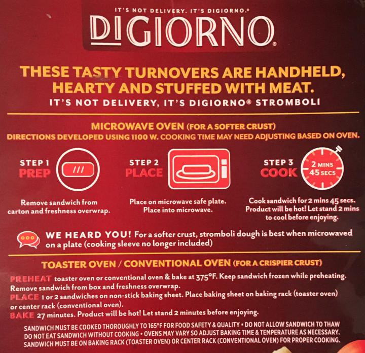 DiGiorno Pepperoni Stromboli
