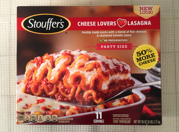 Stouffer's Party Size Cheese Lovers Lasagna