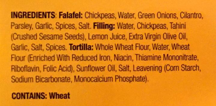 TaDah! Falafel Street Wrap with Fresh Lemon-Garlic Hummus