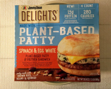 Jimmy Dean Delights Spinach & Egg White Plant-Based Patty & Frittata Sandwich