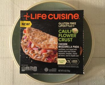 Life Cuisine Gluten Free Lifestyle Cauliflower Crust Chicken Mozzarella Piada