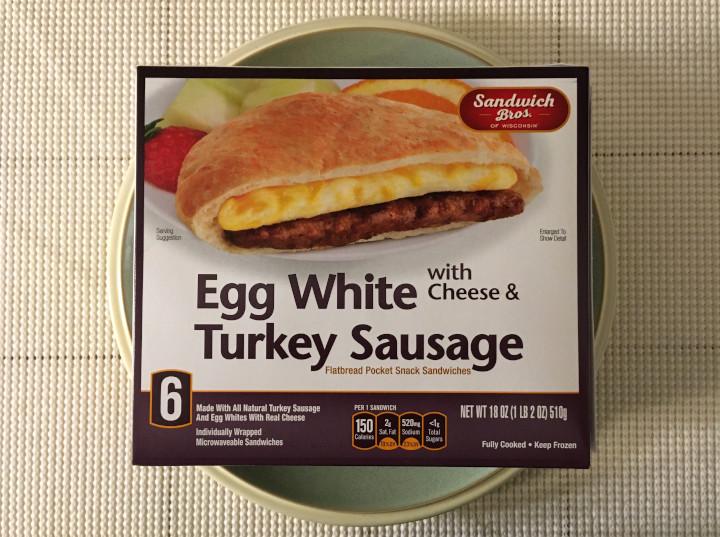 Sandwich Bros. Egg White with Cheese & Turkey Sausage Flatbread Pocket Sandwiches