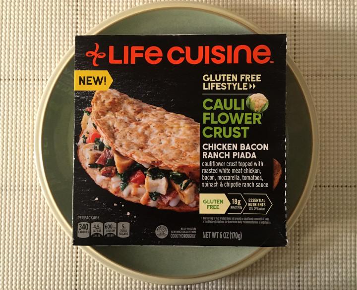 Life Cuisine Gluten Free Lifestyle Cauliflower Crust Chicken Bacon Ranch Piada