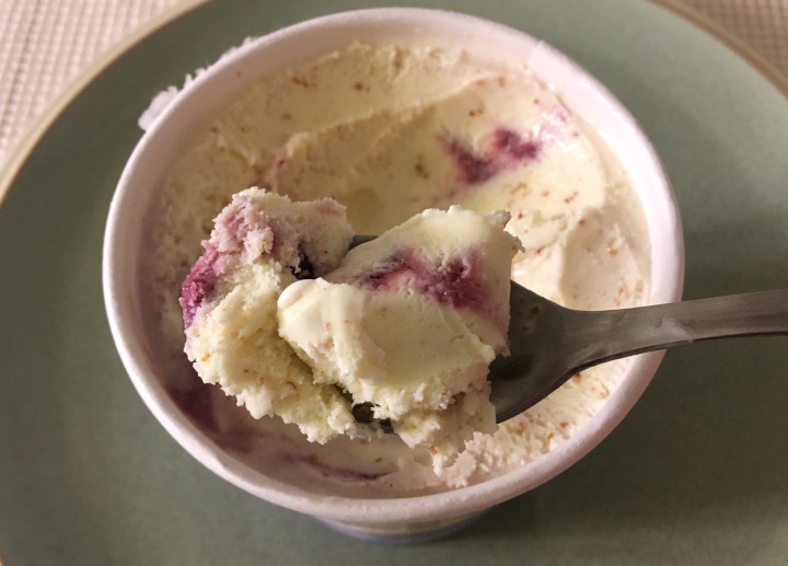Trader Joe's Wildberry Cheesecake Ice Cream