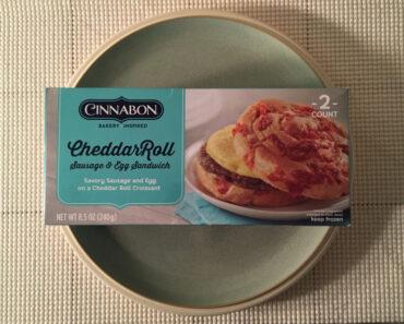 Cinnabon Cheddar Roll Sausage & Egg Sandwich Review