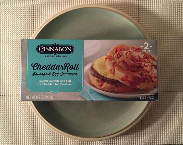 Cinnabon Cheddar Roll Sausage & Egg Sandwich
